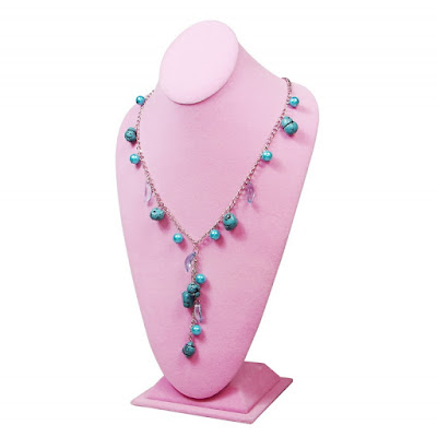 Shop Nile Corp Wholesale Deluxe Velvet Necklace Display Bust