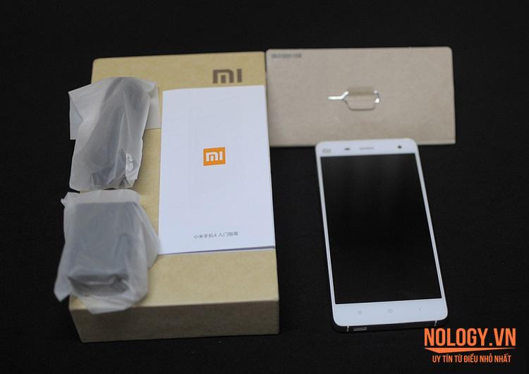 Trọn bộ Xiaomi Mi 4 phiên bản màu trắng