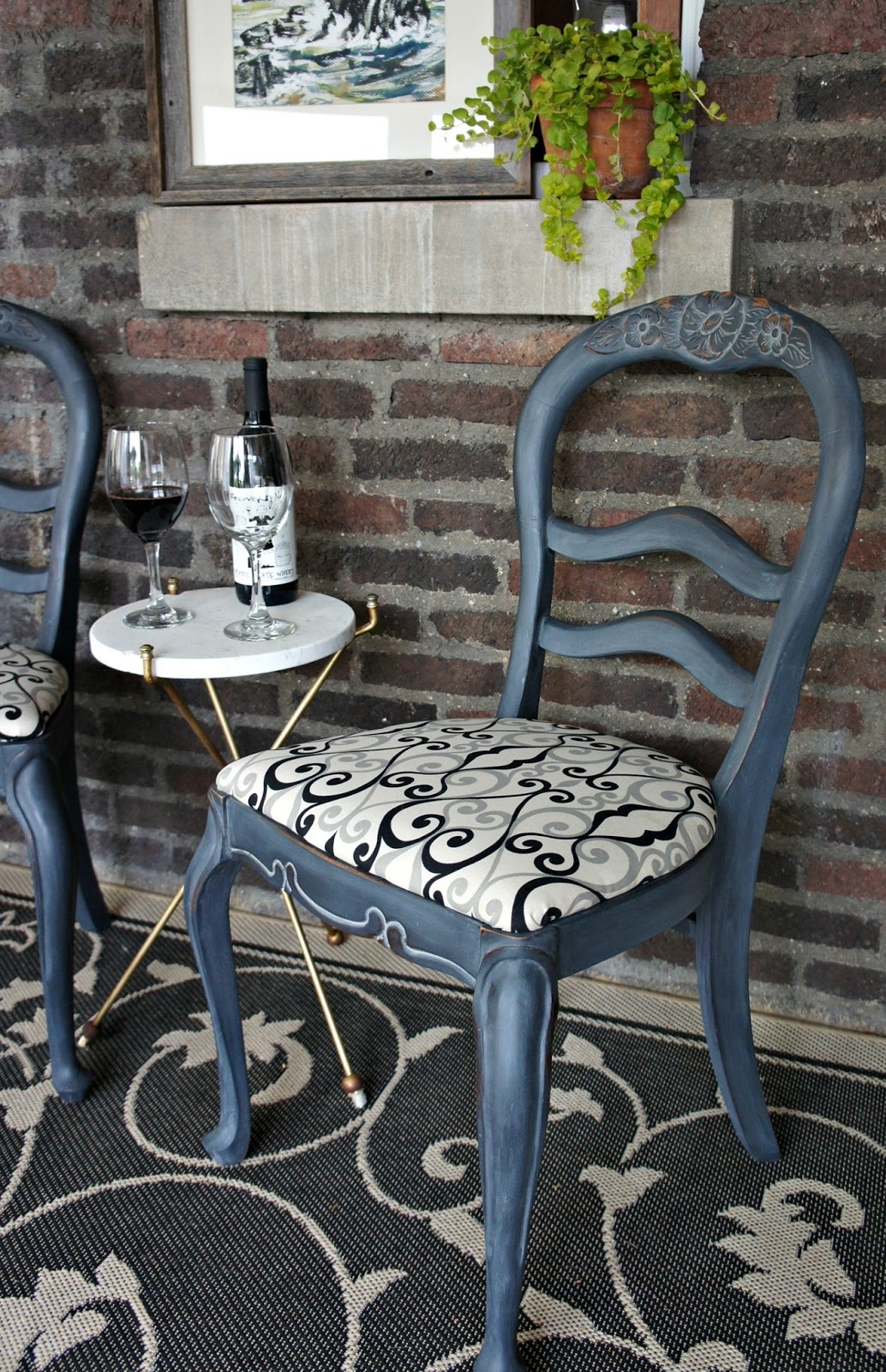 Chalk Paint Chairs Whimsical Perspective A Whimsical Makeover The Twin Chairs