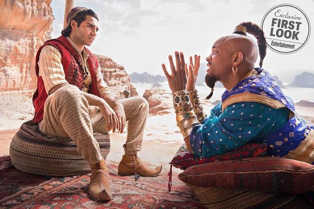 Aladdin, Jasmine e Gênio aparecem em primeiras imagens do live-action da Disney