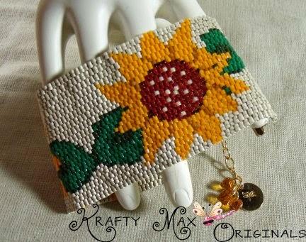 http://www.lajuliet.com/index.php/2013-01-04-15-21-51/ad/beaded,49/sunflower-beadwoven-bracelet-a-krafty-max-original-design,91