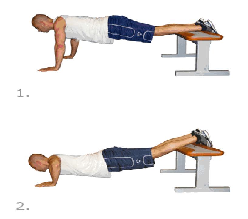 تمرين الضغط مع رفع القدم