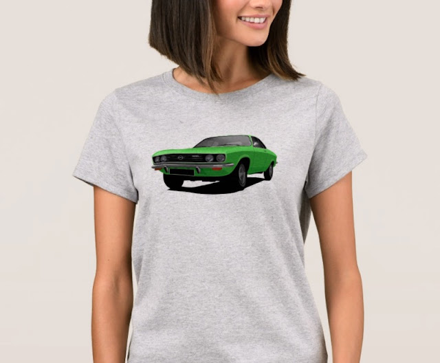 Green Opel Manta A t-shirt for Open fan