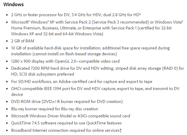 adobe premiere pro 1 5 system requirements