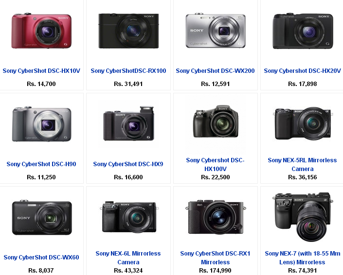 geniusimages: Sony Digital Camera Price List in India from ...
