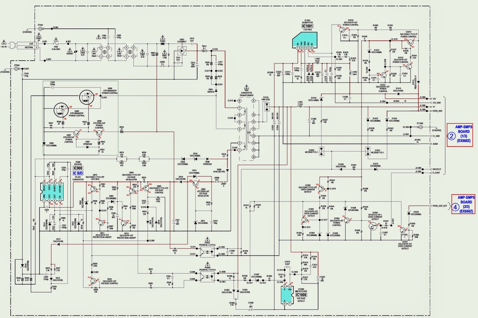 SONY HCD EX660Z SCHEMATIC Wiring diagram Schematic SMPS