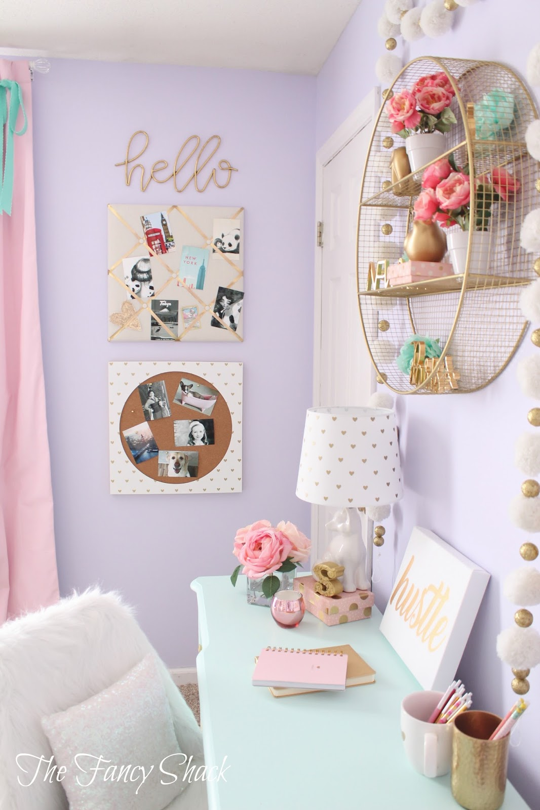 Teenage Girl Desk Accessories The Fancy Shack Pastel Girls Room Makeover