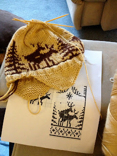Lindsay s Knitting Diaries  Fornicating Deer Hat 627c8ba9928