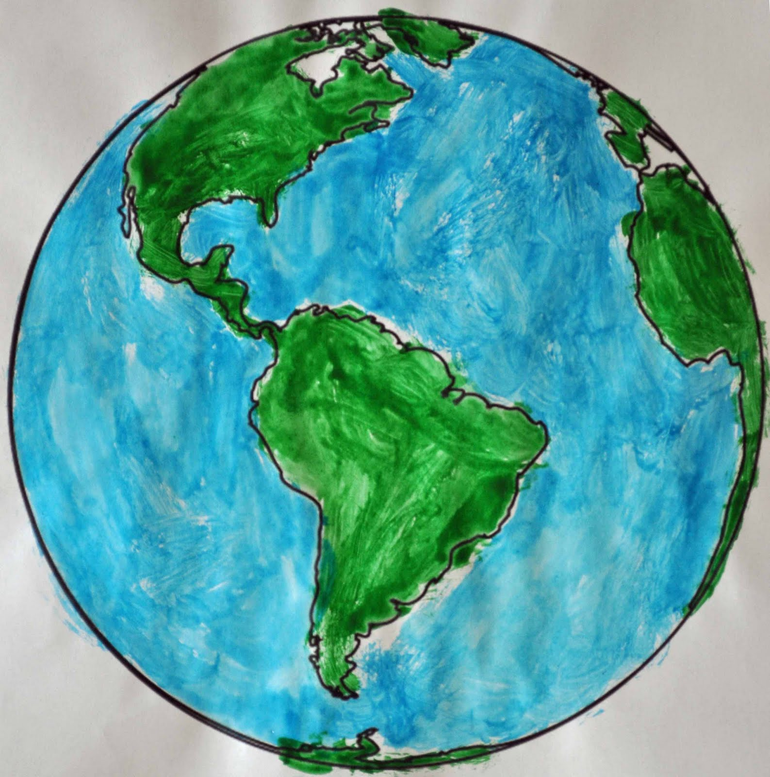 Children S Learning Activities Earth Day Painting