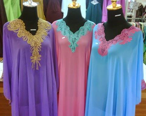 model baju muslim sifon orang gemuk