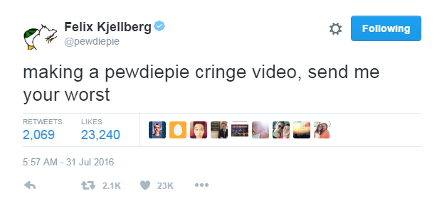 Pewdiepie Cringe Video Youtube