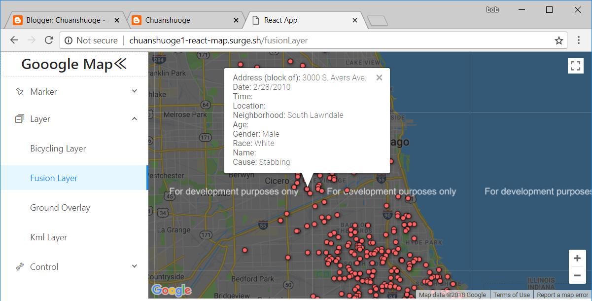 Chuanshuoge: react google map