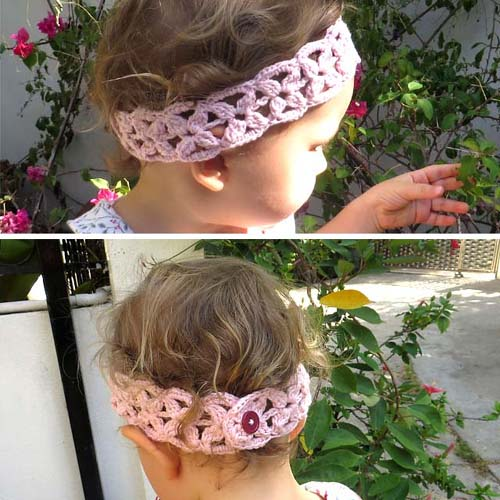 Simple Flower Headband - Free Pattern