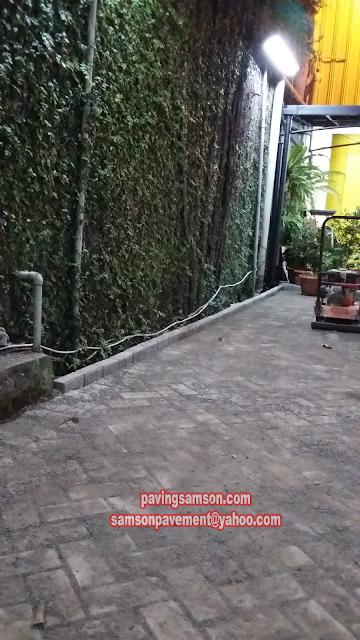 hasil pemasangan paving block