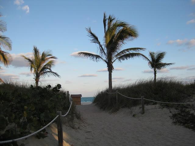 Miami Beach - Zugang zum Strand
