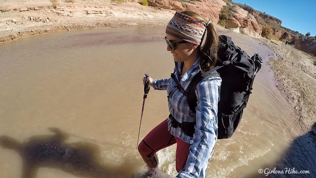 Backpacking Buckskin Gulch - Wire Pass to White House, Backpacking Buckskin Gulch with Dogs, Waymark Gear Co ultralight pack