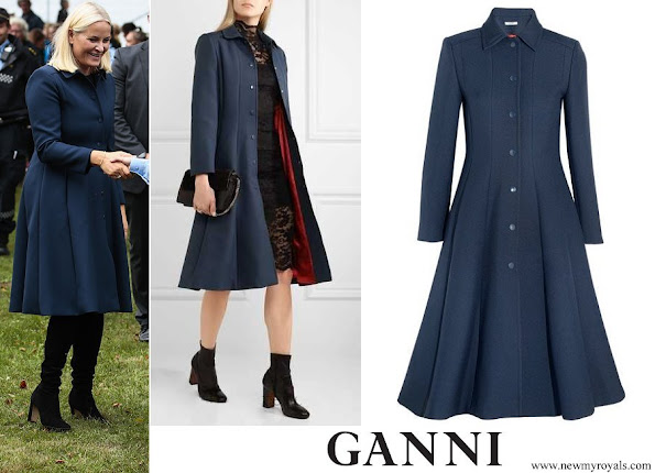 Crown Princess Mette-Marit wore GANNI Coat