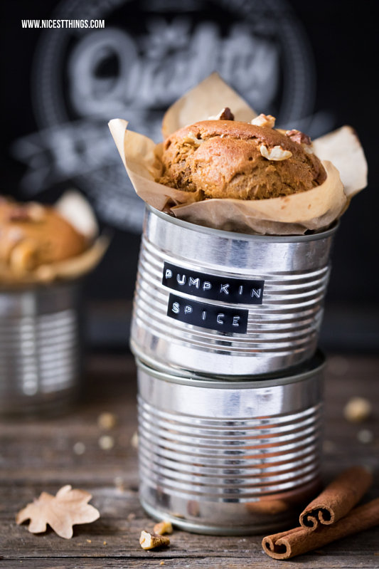 Kichererbsen Muffins: Pumpkin Spice Kürbis Kuchen aus der Dose