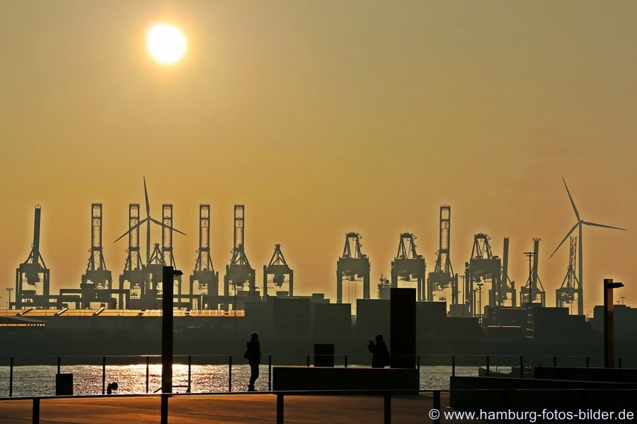 Hafen Silhouette am Dockland