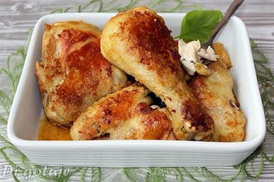 Pieczony kurczak z rosołu