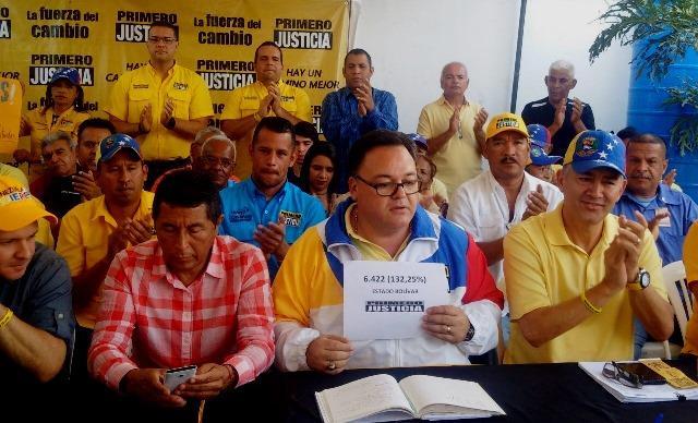 Primero Justicia validó en Bolívar con más de 6 mil firmas