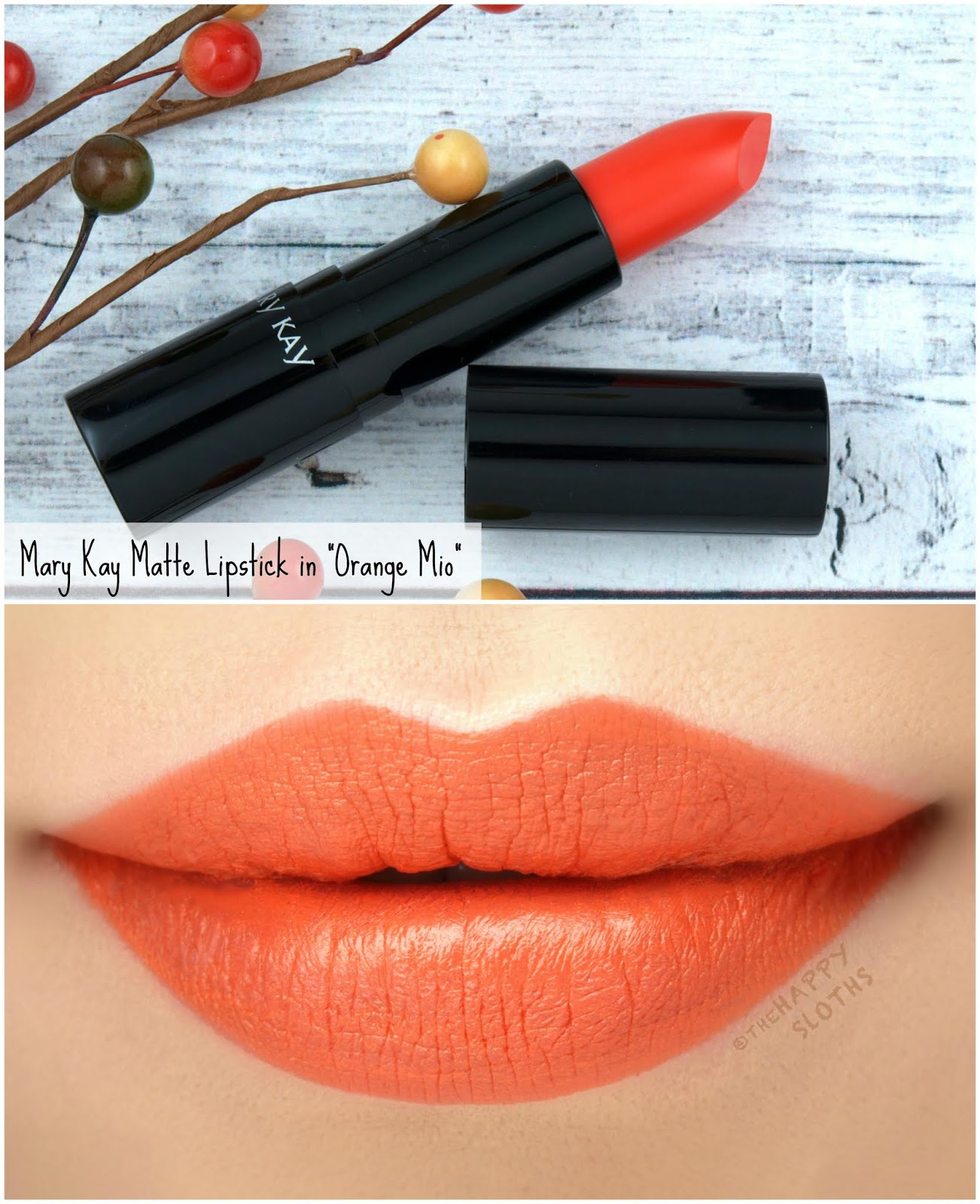 "Mary Kay | Fall 2018 Matte Lipstick in ""Orange Mio"": Review and Swatches"