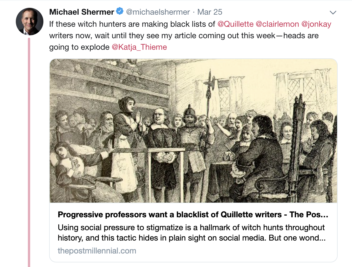 PINKERITE: Michael Shermer is possibly the sleaziest member of the