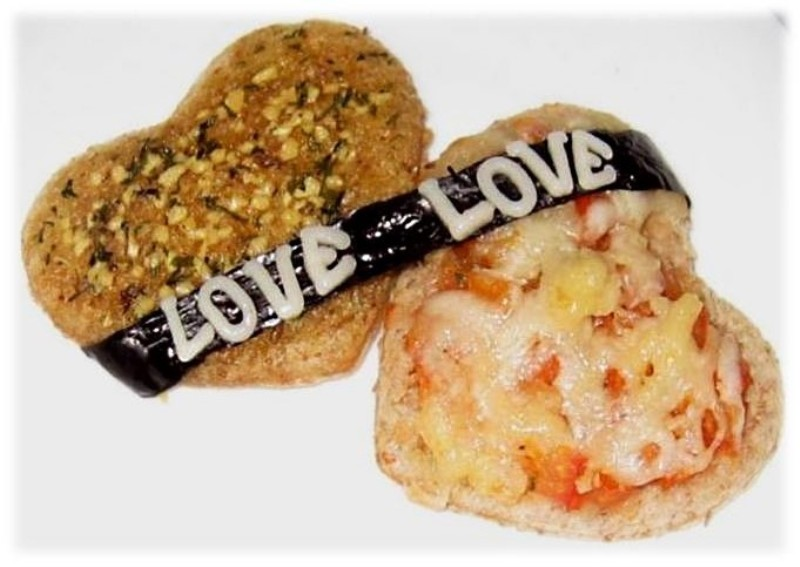 pretty valentines day heart shaped bruschetta recipe