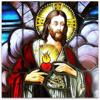 Vitral Sagrado Coração de Jesus - Igreja São João Batista, Imigrante (RS)