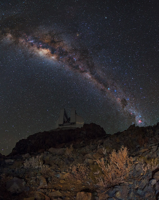 Milky Way Galaxy seen over La Silla Observatory