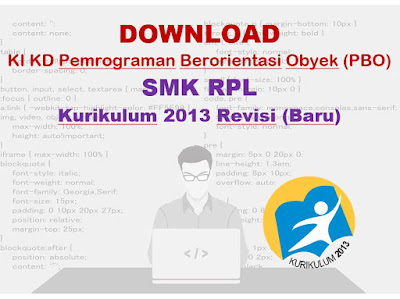KI KD Pemrograman Berorientasi Obyek SMK RPL K13 Revisi