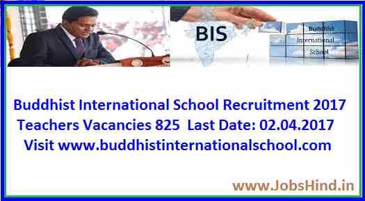 Buddhist International School Recruitment 2017