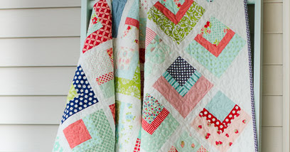Quarter Log Cabin Quilt