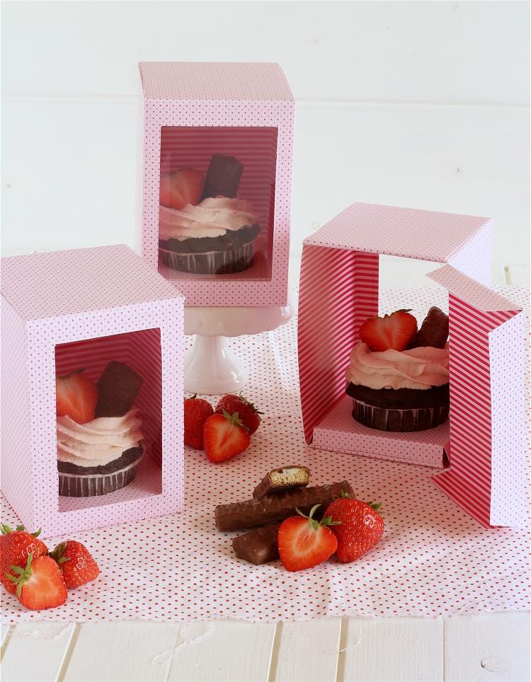 DIY/Tutorial Cupcake-Geschenkbox - Cupcake-Geschenkschachtel