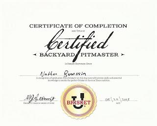 Brisket U Certificate