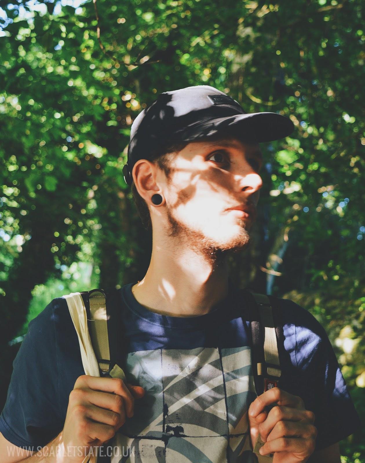 Man in hat in sunshine