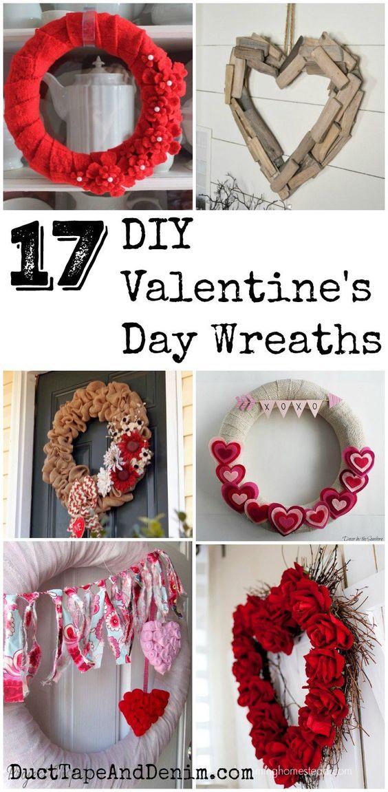 17 DIY VALENTINE'S DAY WREATHS TO MAKE
