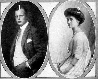 Carl Friedrich Graf von Pückler-Burghauss, Freiherr von Groditz -Olga Prinzessin von Sachsen Altenburg, Herzogin zu Sachsen