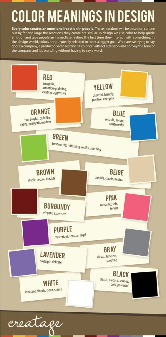 neutral color of color meanings in infographic design