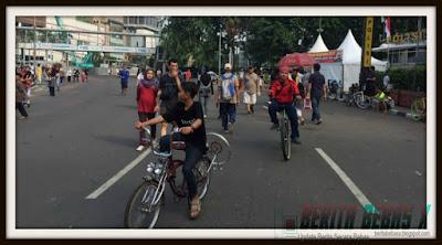 bersepeda, Kejadian, car free day sepi, tahun 2017, Jakarta, Keluarga, Berita Bebas, Berita Terbaru,