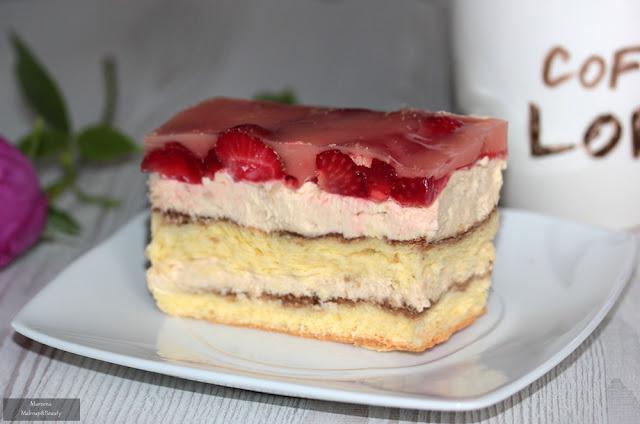 ciasto z truskawkami i galaretką przepis