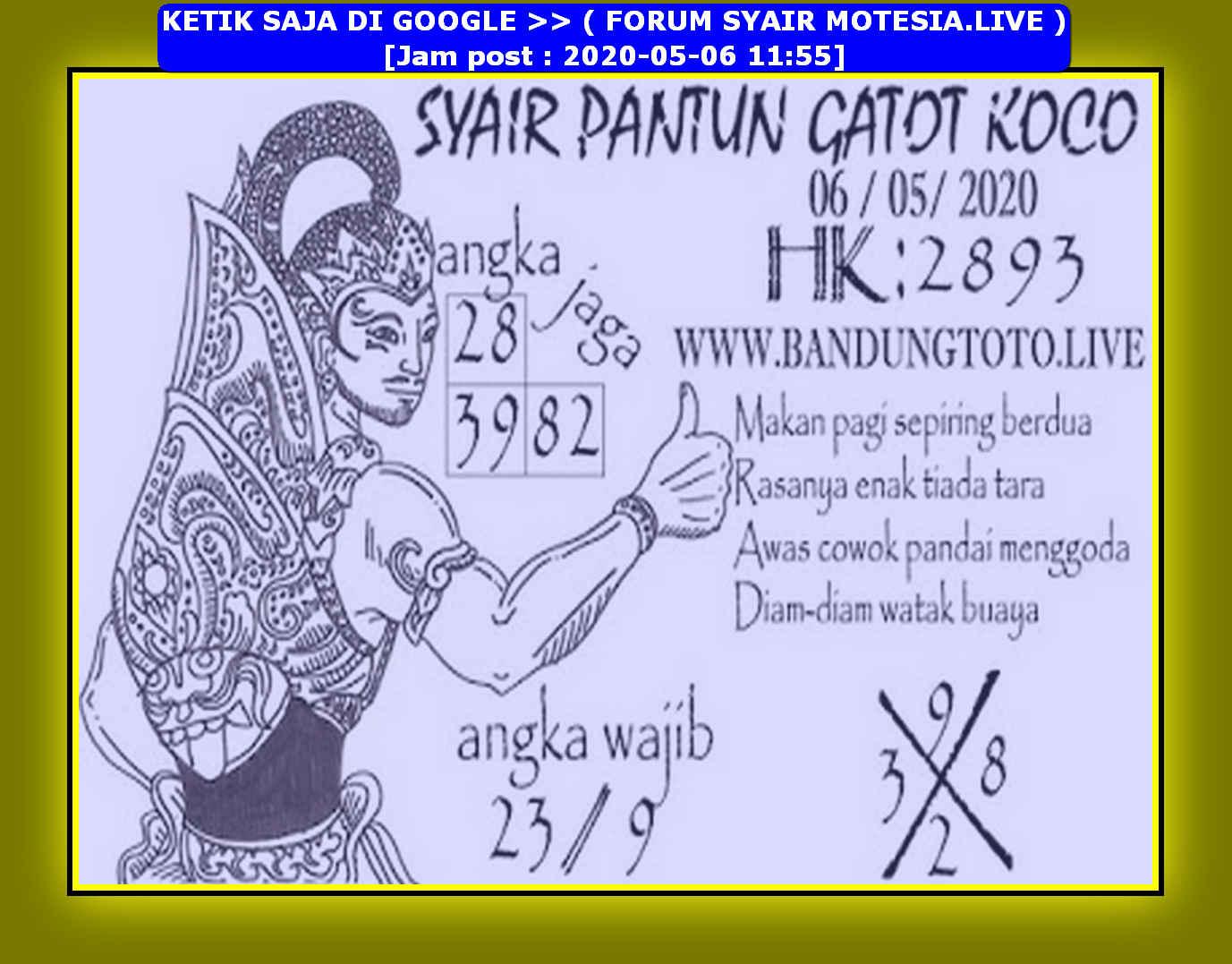 Kode syair Hongkong Rabu 6 Mei 2020 139