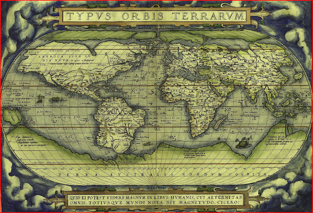 image: The world, Abraham Ortelius's