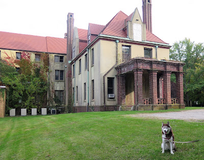 Did ghosts really haunt the expansive Coindre Hall, a Long Island New York chateau?  My dogs and I are visiting to see if we spot any spirits!