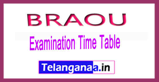BRAOU B.Ed 1st year Annual Exam Dates Time Table 2018