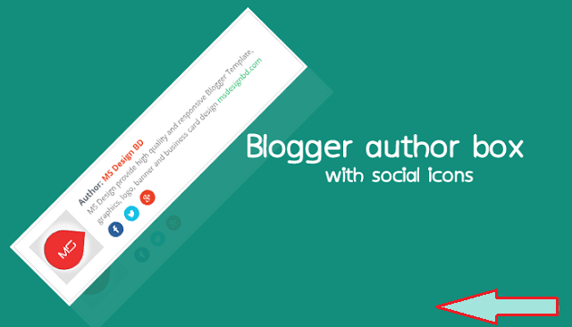 Widget Author Bio box dengan Social icons Pada Blog