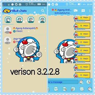 BBM MOD Doraemon Blue v3.2.2.8 APK 4