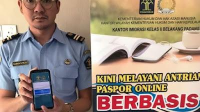 Aplikasi Antrian Paspor Tidak Perlu Antri di Kantor Imigrasi