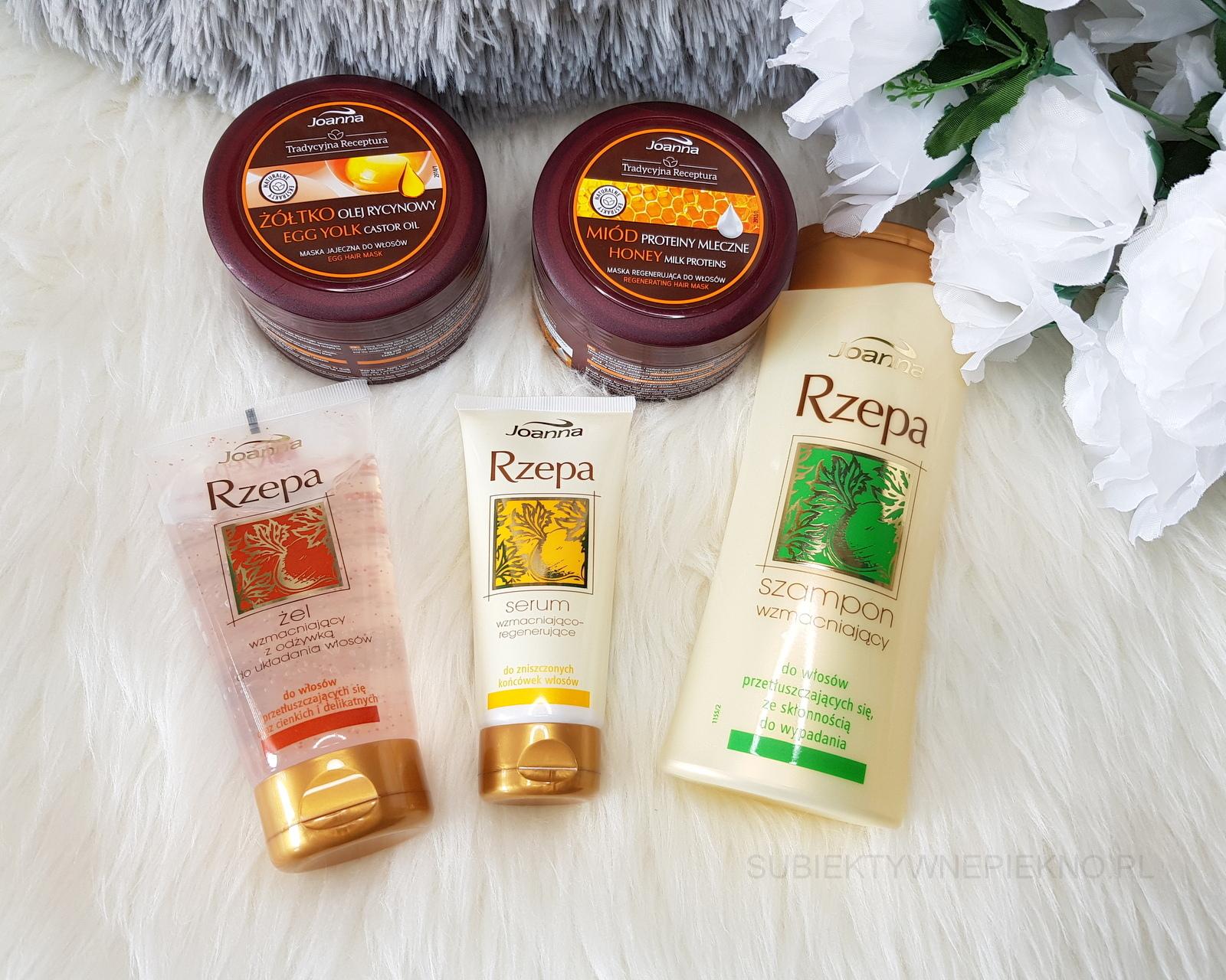 Nowości luty 2018 - serum, szampon i żel z odżywką Joanna Rzepa, maski do włosów Joanna