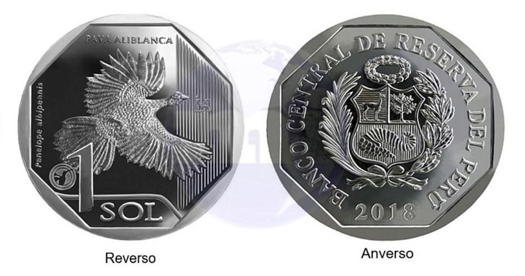 Moneda alusiva a la Pava Aliblanca